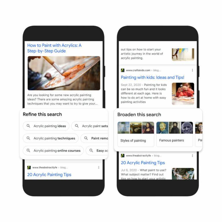 Multimodális Google keresés változása 2021-ben